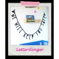 Letterslinger zwart