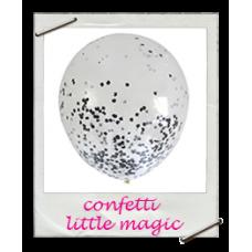 Ballonnen confetti monochrome