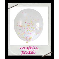 Ballonnen confetti pastel