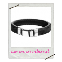 Armband Initial Leer (Mannen)