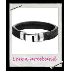 Armband Initial Leer (Mannen)