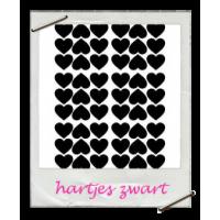 Muurstickers: hartjes zwart