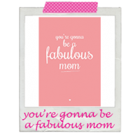 Wenskaart fabulous mom