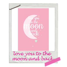 Wenskaart love you to the moon and back